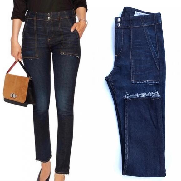 rag & bone Denim - Rag & Bone Denny High Rise Skinny Blue Jeans :034